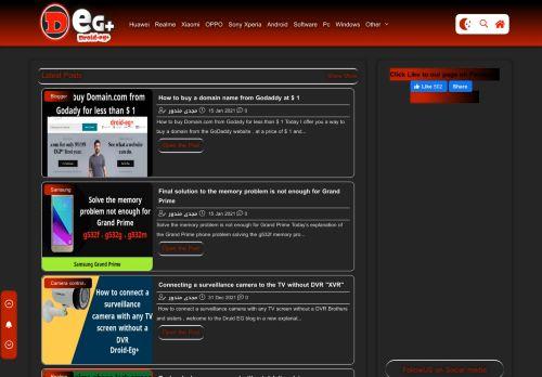 لقطة شاشة لموقع Droid-Eg+   Learn software and phone repair بتاريخ 19/01/2021 بواسطة دليل مواقع تبادل بالمجان