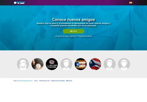 لقطة شاشة لموقع chat burbujas de amor بتاريخ 07/02/2021 بواسطة دليل مواقع تبادل بالمجان