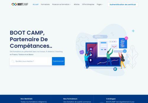 لقطة شاشة لموقع bootcamp بتاريخ 22/02/2021 بواسطة دليل مواقع تبادل بالمجان