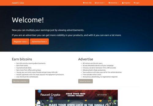 لقطة شاشة لموقع اربح بتكوين AdsBTC Click بتاريخ 22/02/2021 بواسطة دليل مواقع تبادل بالمجان
