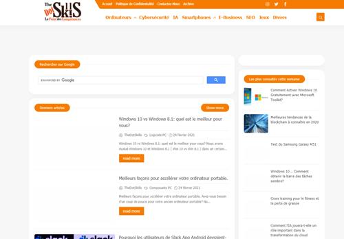 لقطة شاشة لموقع Le Point des Compétences بتاريخ 24/02/2021 بواسطة دليل مواقع تبادل بالمجان