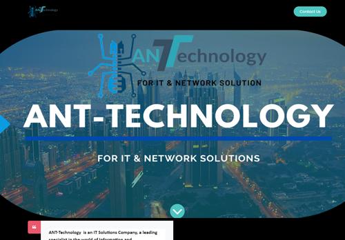 لقطة شاشة لموقع http://ant-technology.org بتاريخ 24/02/2021 بواسطة دليل مواقع تبادل بالمجان