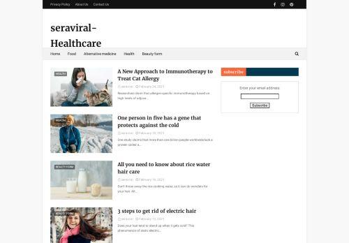 لقطة شاشة لموقع Seraviral-Healthcare بتاريخ 02/03/2021 بواسطة دليل مواقع تبادل بالمجان